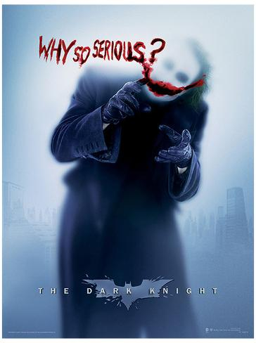 The Dark Knight - Why So Serious? Masterprint