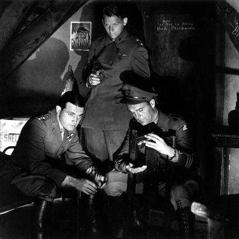The Dawn Patrol, Richard Barthelmess, Douglas Fairbanks, Jr., Neil Hamilton, 1930 Stretched Canvas Print