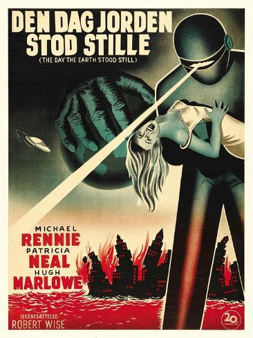 The Day The Earth Stood Still, Danish Movie Poster, 1951 アートプリント