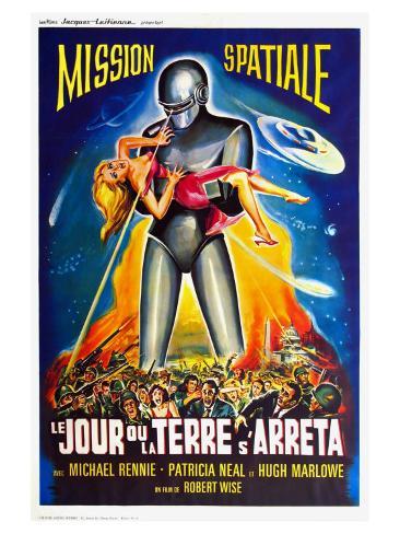 The Day The Earth Stood Still, French Movie Poster, 1951 Impressão artística