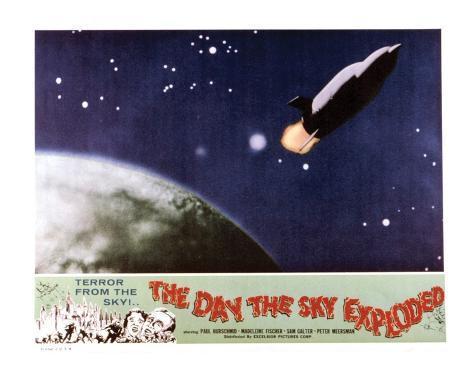 The Day The Sky Exploded - 1958 Impressão giclée