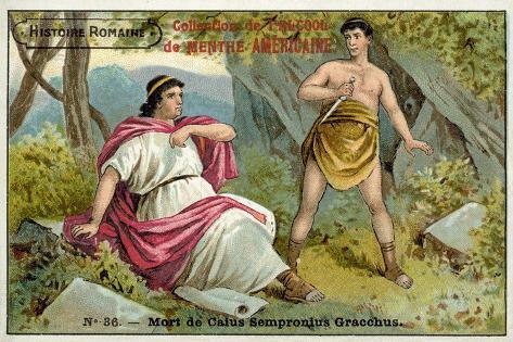 The Death of Caius Gracchus, Rome, 121 BC Lámina giclée