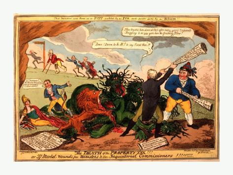 The Death of the Property Tax! or 37 Mortal Wounds for Ministers and the Inquisitoral Commissioners Giclee Print