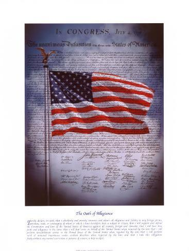 The Declaration of Independence Art Print