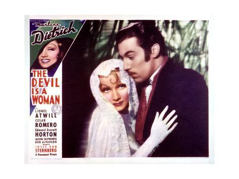 The Devil Is a Woman - Lobby Card Reproduction Stampa artistica