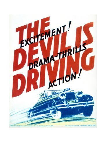 The Devil Is Driving - Movie Poster Reproduction Art Print