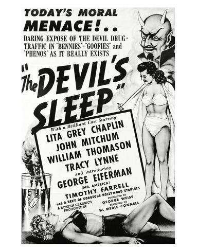 The Devil's Sleep - 1951 Art Print