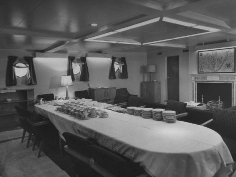 The Dining Room in President Harry S. Truman's Yacht Stretched Canvas Print