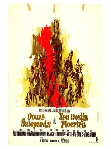 The Dirty Dozen, Belgian Movie Poster, 1967 Art Print