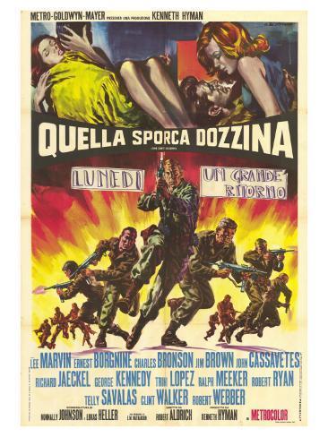 The Dirty Dozen, Italian Movie Poster, 1967 Premium Giclee Print