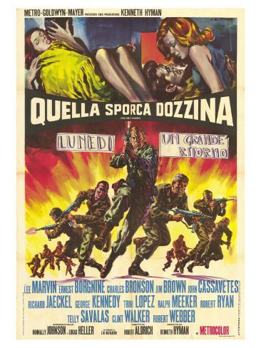 The Dirty Dozen, Italian Movie Poster, 1967 Art Print
