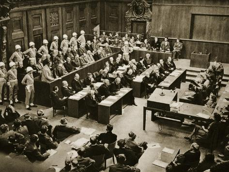 The Dock at the Nuremberg Trials. Front Row from Left: Hermann Goring Giclee Print