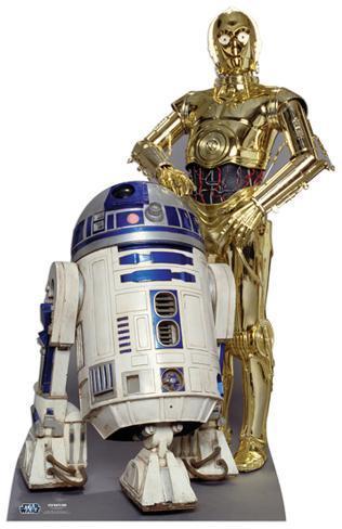 The Droids (R2-D2, C3P-O) Cardboard Cutouts
