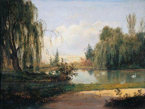 The Ducal Park of Colorno with a View of the Pond Giclee Print