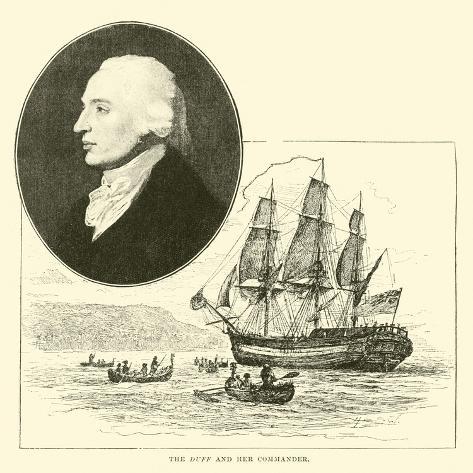 The Duff and Her Commander Lámina giclée