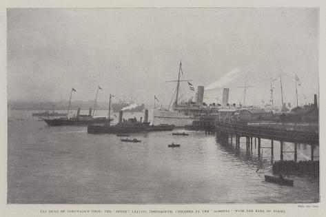 The Duke of Cornwall's Tour Giclee Print