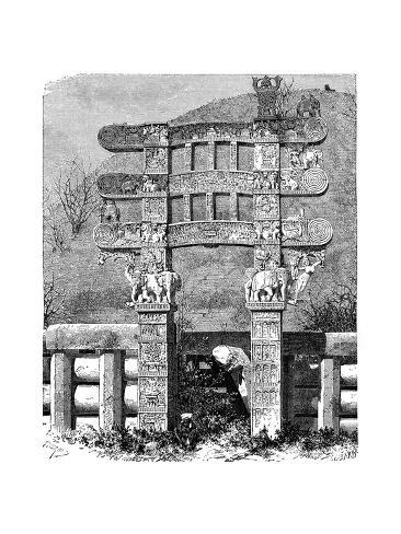 The East Gate of the Sanchi Tope, India, 1895 Giclee Print