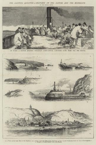 The Eastern Question, Sketches on the Danube and the Bosphorus Giclee Print