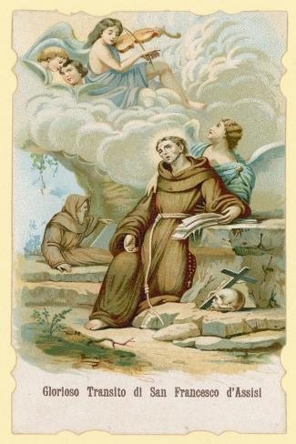 The Ecstasy of St Francis of Assisi Lámina giclée