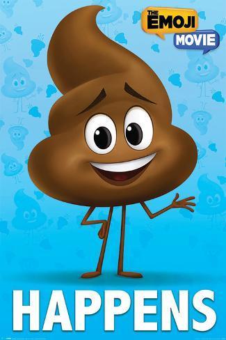 The Emoji Movie - Poop Happens Poster