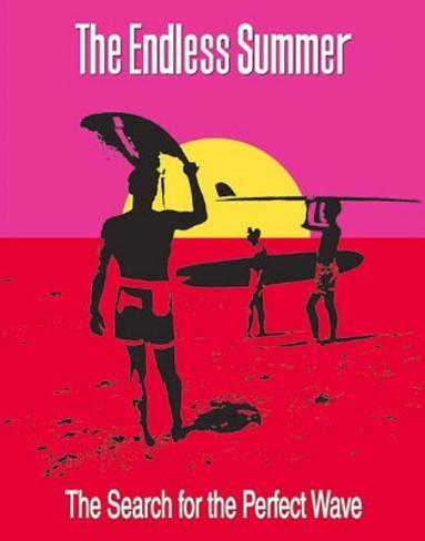 The Endless Summer Movie Holding Surfboard Poster Print Mini Poster