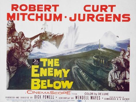 The Enemy Below, 1961 Art Print