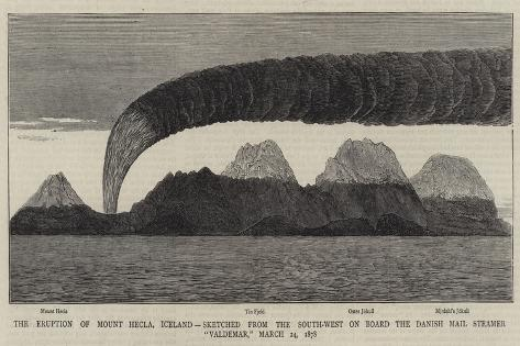 The Eruption of Mount Hecla Giclee Print
