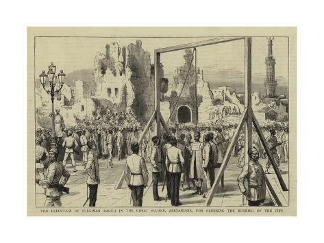 The Execution of Suleiman Daoud in the Great Square Giclee Print