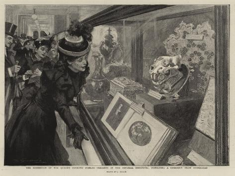 The Exhibition of the Queen's Diamond Jubilee Presents at the Imperial Institute Giclee Print