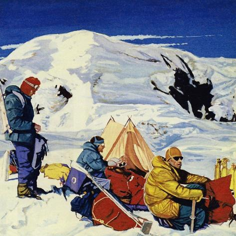 The Expedition Set Up Eight Camps, the Last 2,000 Feet Below the Summit Giclee Print