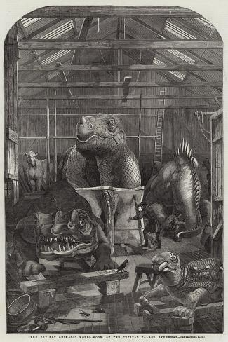 The Extinct Animals Model-Room, at the Crystal Palace, Sydenham Giclee Print