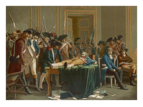 The Fall of Robespierre Lámina giclée