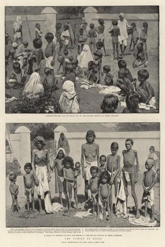 The Famine in India Giclee Print