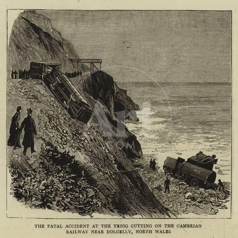 The Fatal Accident at the Vriog Cutting on the Cambrian Railway Near  Dolgelly, North Wales