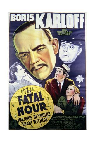 The Fatal Hour - Movie Poster Reproduction Lámina