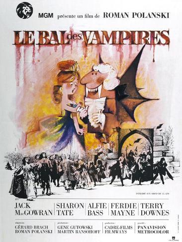 The Fearless Vampire Killers, (aka Le Bal des Vampires), French poster, 1967 Art Print