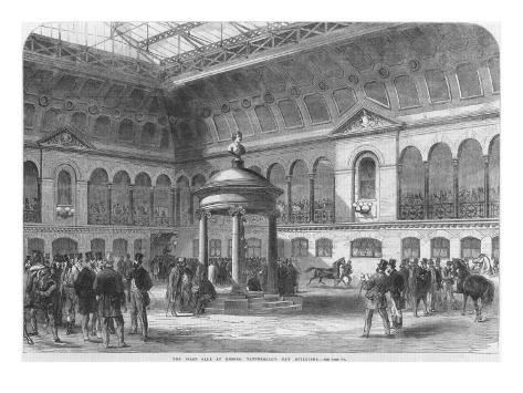 The First Auction at Tattersall's New Buildings, 1865 Lámina giclée