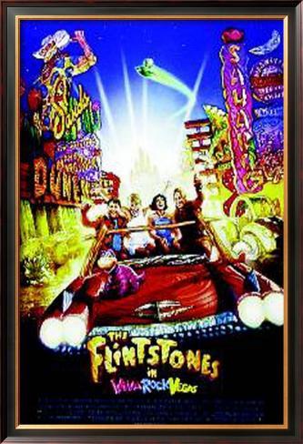 The Flintstones In Viva Rock Vegas Pôster emoldurado