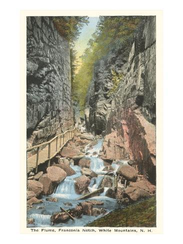 The Flume, Franconia Notch, New Hampshire Art Print