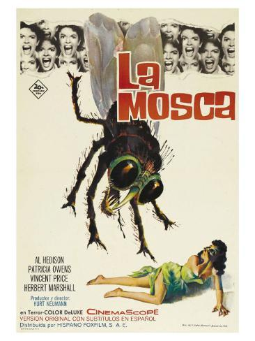 The Fly, Spanish Movie Poster, 1958 Art Print