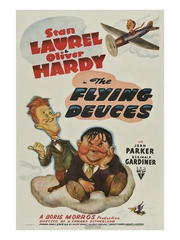 The Flying Deuces, Stan Laurel, Oliver Hardy, 1939 Photo