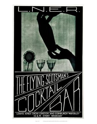 The Flying Scotsman's Cocktail Bar Art Print