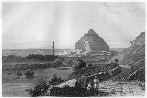 The Fortress of Dowlatabad in the Deccan Plateau, India, C1860 Giclee Print
