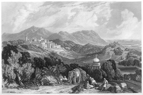 The Fortress of Nahan in the Dominion of Oude, India, C1860 Giclee Print