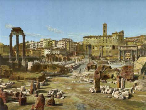 The Forum, Rome Lámina giclée