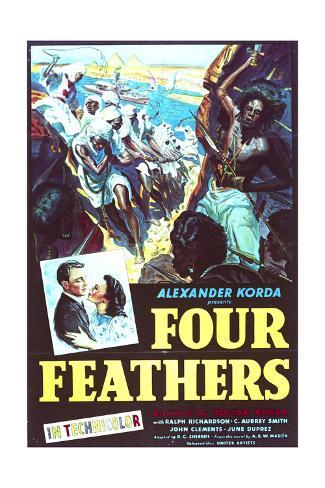 The Four Feathers - Movie Poster Reproduction Lámina
