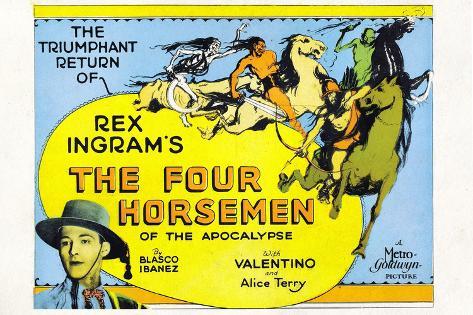 The Four Horsemen of the Apocalypse Movie Rudolphe Valentino Poster Print Poster