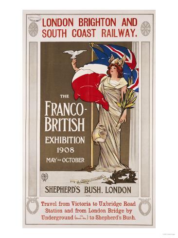 The Franco-British Exhibition, 1908 Lámina giclée