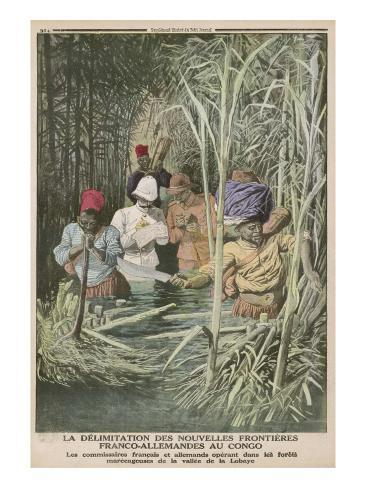 The French and Germans Establish their Frontiers as They Cut their Way Through the Congo Lámina giclée