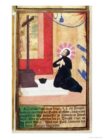 The French Father Jesuit Jean Francois Regis Impressão giclée
